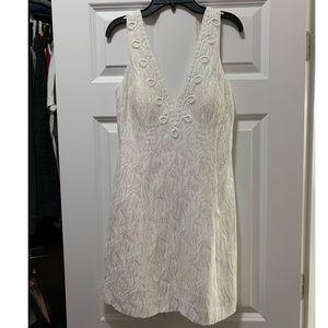 Lilly Pulitzer Brynn iridescent white dress